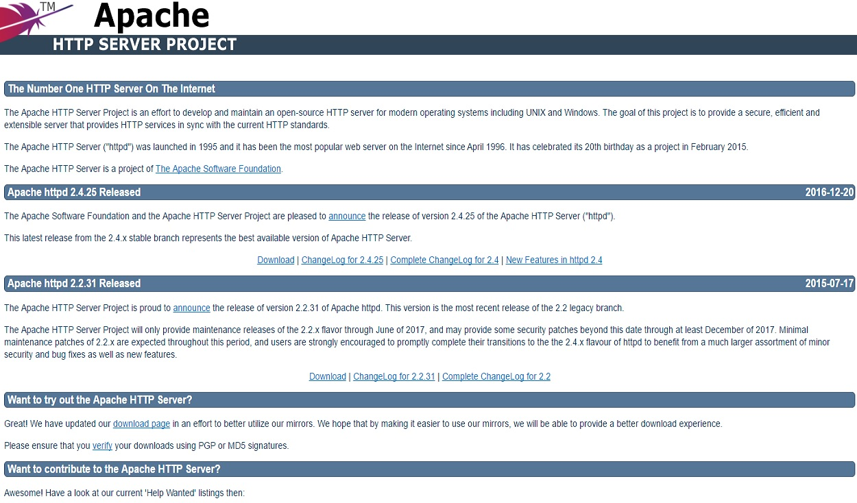 Apache (Webserver)